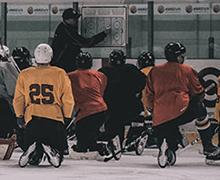 Eishockey Trainingstrikots im Einsatz