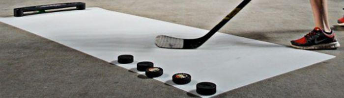 Eishockey Schussplatte